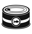 fish tin can icon simple style vector image