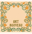 floral background in art nouveau style vector image vector image