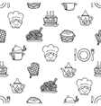 Food white and black seamless pattern vector image