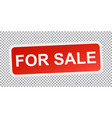 for sale red flat icon vector image vector image