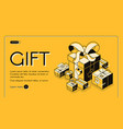 gift wrapping service isometric website vector image vector image