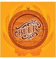 glass of beer on a yellow background for the menu vector image vector image