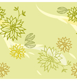 Green seamless pattern with flowers vector image vector image