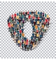 group people shape letter O Transparency vector image vector image