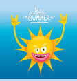hello summer rock n roll poster summer party vector image vector image