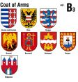 heraldry coat of arms vector image vector image