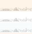 hiroshima hand drawn skyline vector image vector image