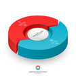 infographic isometric 3d process chart vector image vector image