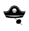 isolated pirate hat costume vector image