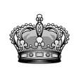 king crown vintage heraldic imperial sign vector image