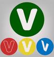 letter v sign design template element 4 vector image