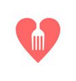 love food logo vector image