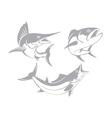 marlin tuna mackerel vector image vector image
