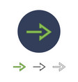 modern arrow icon vector image vector image