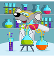 mouse scientist vector image