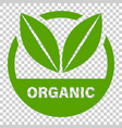 organic label badge icon in flat style eco bio vector image vector image