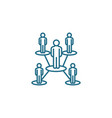 organizational structure linear icon concept vector image vector image
