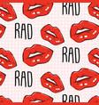 red lips rad quote teen pop art lips vector image