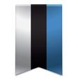 Ribbon banner - estonian flag vector image vector image