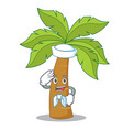 sailor palm tree character cartoon vector image vector image