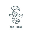sea horse line icon linear concept vector image