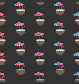 seamless pattern with half coconut drink tube and vector image