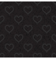 Seamless with polka dotted hearts vector image