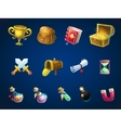 set items for game user interface atlantis ruins vector image