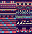 set of seamless sweater patterns vector image vector image