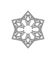 six pointed star zentangle isolated design vector image
