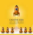 space leader rocket launch creative idea vector image