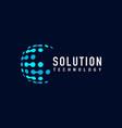 tech solution logo vector image vector image