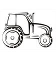 tractor symbol vector image vector image