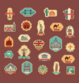 travel stickers and symbols different countries vector image