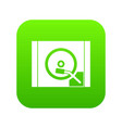 turntable icon digital green vector image