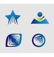 Unusual Flat Logo set for travel transport media vector image vector image