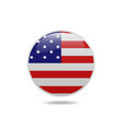 usa flag circle bubbles of american vector image vector image