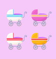 Vintage Baby Carriages vector image vector image