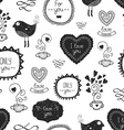 Vintage love background vector image vector image