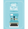 Vintage of an retro camera vector image vector image