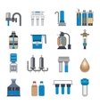 Water filtration icons vector image