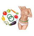woman with health intestine vector image vector image
