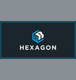 wr hexagon logo design inspiration vector image vector image