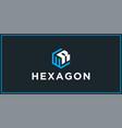 wr hexagon logo design inspiration vector image vector image