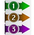 abstract web arrow in three color vector image