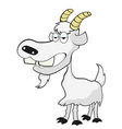 funny goat vector image