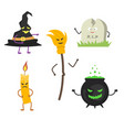 set of characters for halloween 2 vector image