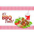 barbecue party horizontal banner grill summer vector image
