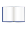 Opened book with white pages vector image