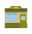 small city building facade commercial building vector image